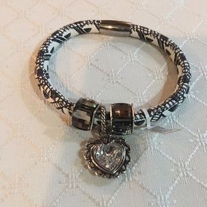 Brighton black and white Woodstock Bracelet